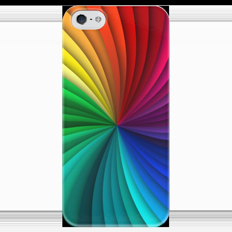 Чехол для iPhone 5 глянцевый, с полной запечаткой Printio Калейдоскоп