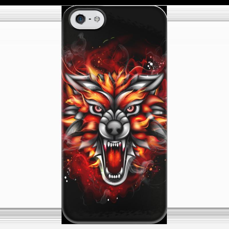 Чехол для iPhone 5 глянцевый, с полной запечаткой Printio Wolf & fire чехол для iphone 5 глянцевый с полной запечаткой printio wolf gang tyler the creator