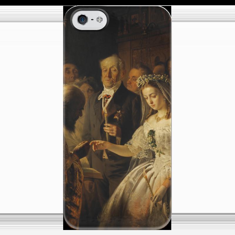 Чехол для iPhone 5 глянцевый, с полной запечаткой Printio Неравный брак (картина василия пикурева) берсенева а неравный брак