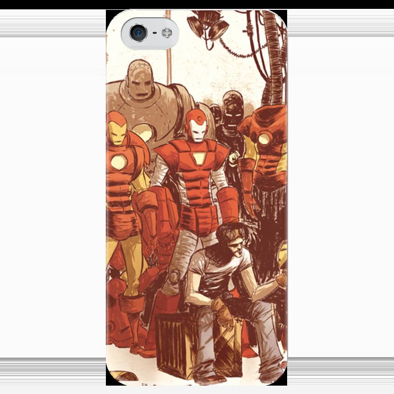 Чехол для iPhone 5 глянцевый, с полной запечаткой Printio Comics art series: ironman чехол для iphone 7 глянцевый printio horror art