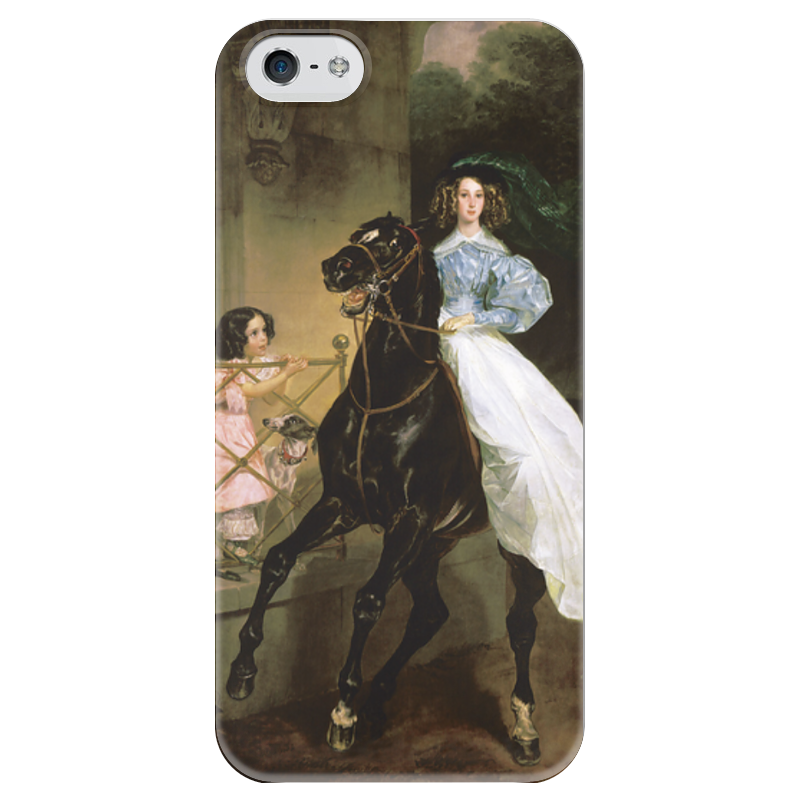 Чехол для iPhone 5 глянцевый, с полной запечаткой Printio Всадница (картина карла брюллова) петр орловец приключения карла фрейберга