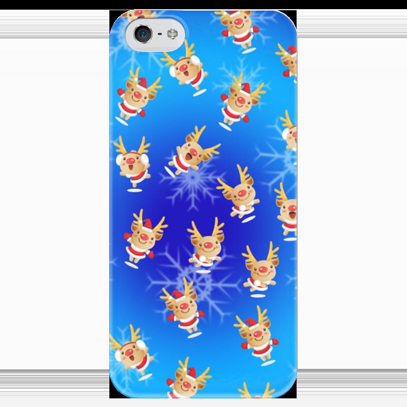 Чехол для iPhone 5 глянцевый, с полной запечаткой Printio Рождественские олени чехол для iphone 5 глянцевый с полной запечаткой printio дама в голубом картина гейнсборо