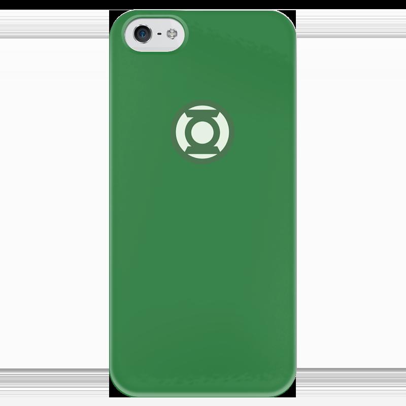 Чехол для iPhone 5 глянцевый, с полной запечаткой Printio Зеленый фонарь чехол для iphone 5 глянцевый с полной запечаткой printio супергерои black canary