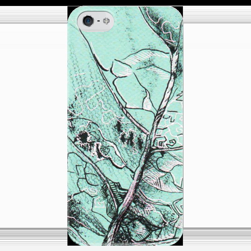 Чехол для iPhone 5 глянцевый, с полной запечаткой Printio Весенняя осень чехол для iphone 5 с подставкой с полной запечаткой printio осень