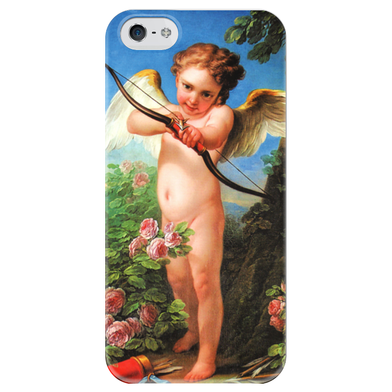 Чехол для iPhone 5 глянцевый, с полной запечаткой Printio Амур, стреляющий из лука (шарль-андре ван лоо)
