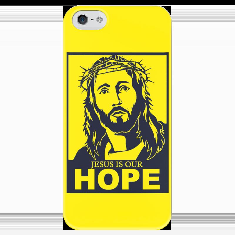 Чехол для iPhone 5 глянцевый, с полной запечаткой Printio Иисус - наша надежда футболка wearcraft premium printio иисус наша надежда