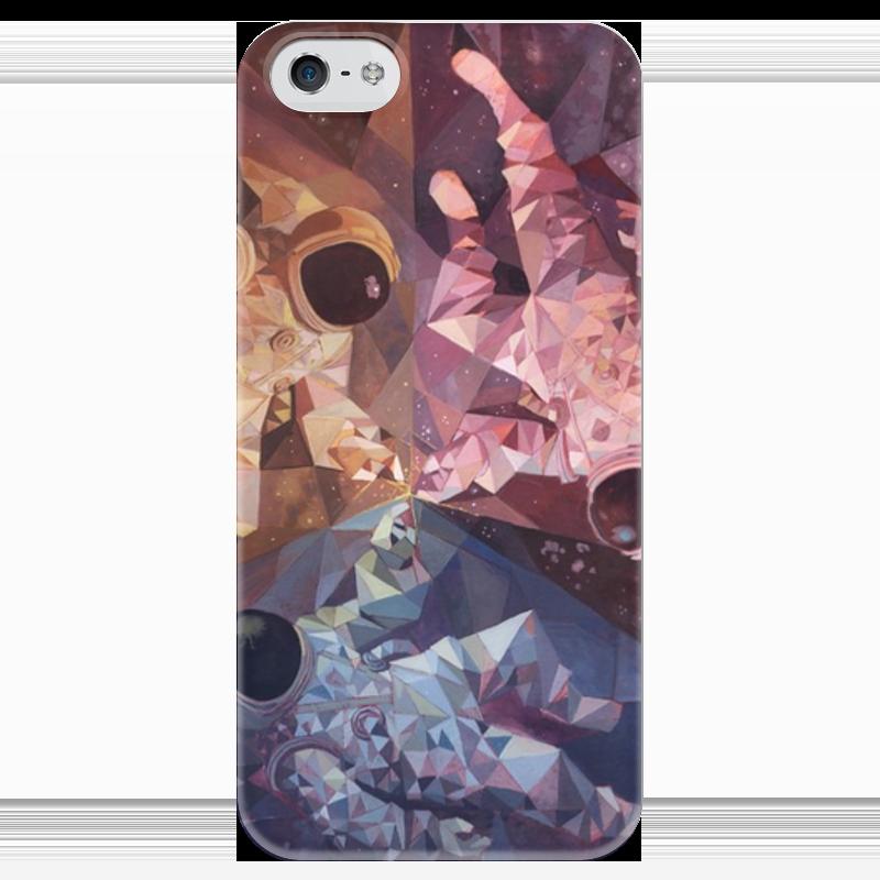 Чехол для iPhone 5 глянцевый, с полной запечаткой Printio Чехол космонавты