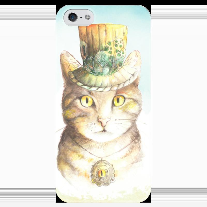 Чехол для iPhone 5 глянцевый, с полной запечаткой Printio Кот - ваш лорд чехол для iphone 6 глянцевый printio молодая женщина в соломенной шляпе