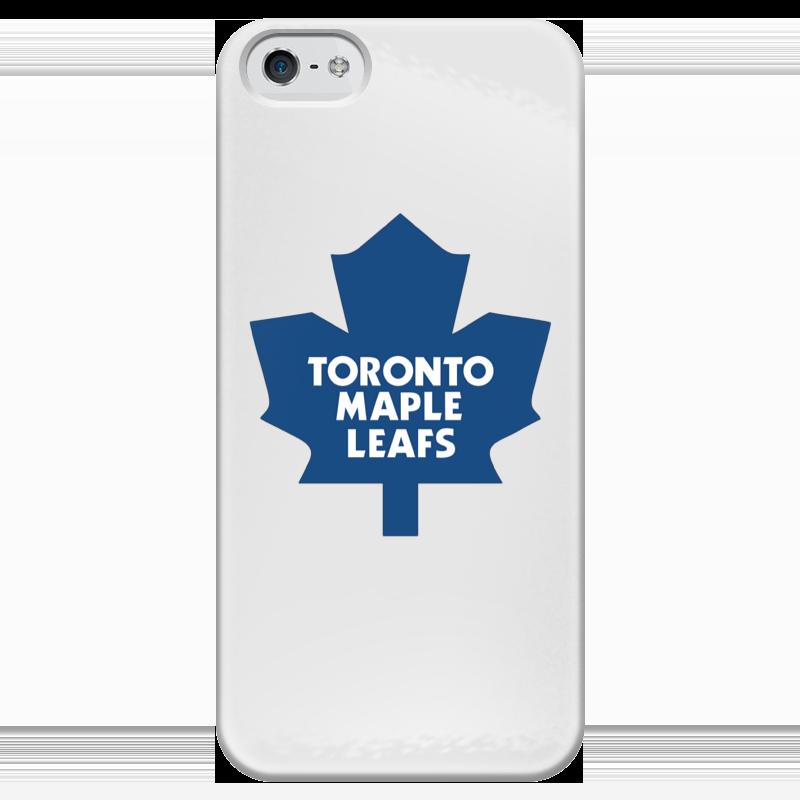 Чехол для iPhone 5 глянцевый, с полной запечаткой Printio Toronto maple leafs чехол