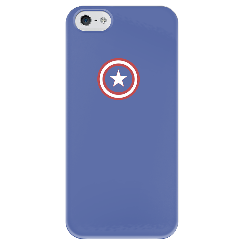 Чехол для iPhone 5 глянцевый, с полной запечаткой Printio Капитан америка чехол для iphone 5 глянцевый с полной запечаткой printio супергерои black canary