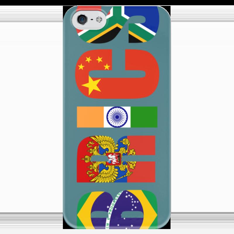 Чехол для iPhone 5 глянцевый, с полной запечаткой Printio Brics - брикс чехол twelve south bookbook для iphone 5 в спб
