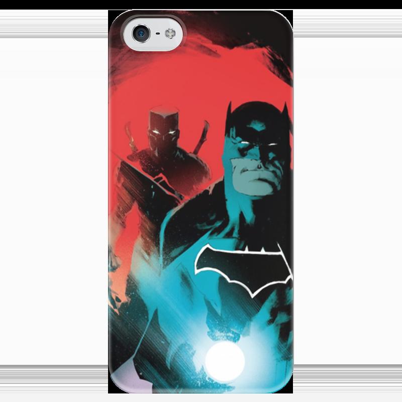 Чехол для iPhone 5 глянцевый, с полной запечаткой Printio Бэтмен чехол для iphone 5 глянцевый с полной запечаткой printio пилот