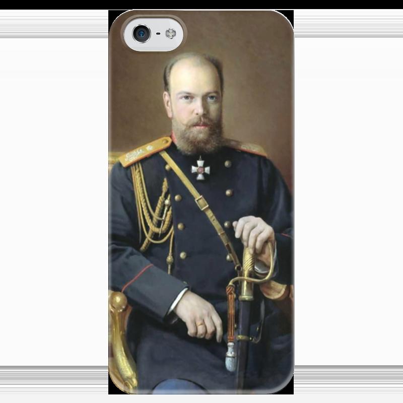 Чехол для iPhone 5 глянцевый, с полной запечаткой Printio Портрет александра iii (иван куликов) иван комлев ковыль