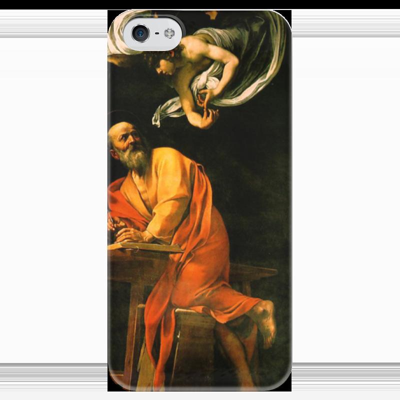 Чехол для iPhone 5 глянцевый, с полной запечаткой Printio Святой матфей и ангел (караваджо) караваджо