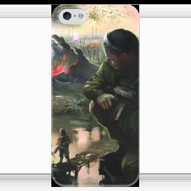 Чехол для iPhone 5 глянцевый, с полной запечаткой Printio S.t.a.l.k.e.r. чехол