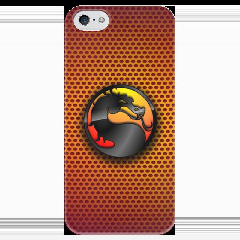 Чехол для iPhone 5 глянцевый, с полной запечаткой Printio Mortal kombat (cмертельная битва)
