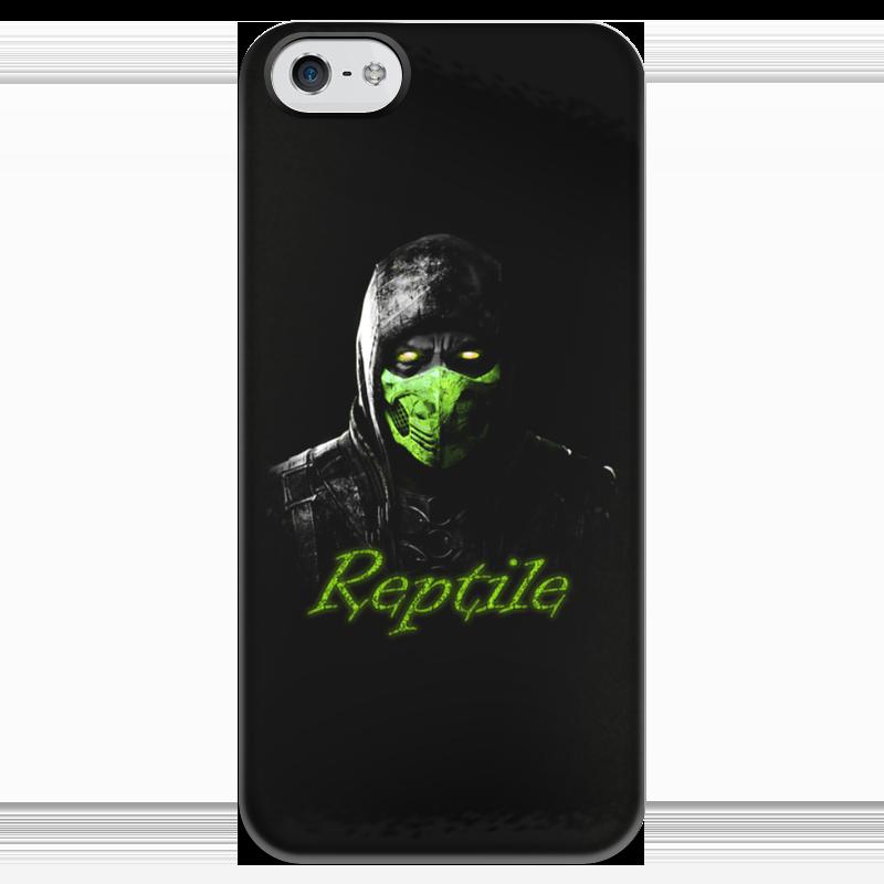 Чехол для iPhone 5 глянцевый, с полной запечаткой Printio Reptile чехол