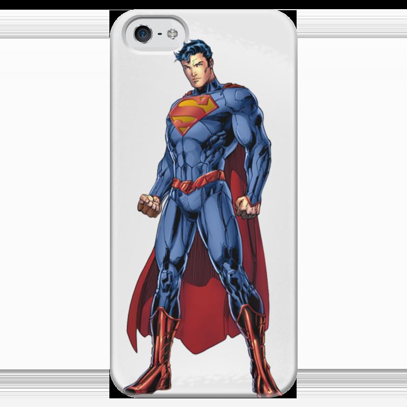 купить Чехол для iPhone 5 глянцевый, с полной запечаткой Printio Супермен по цене 980 рублей