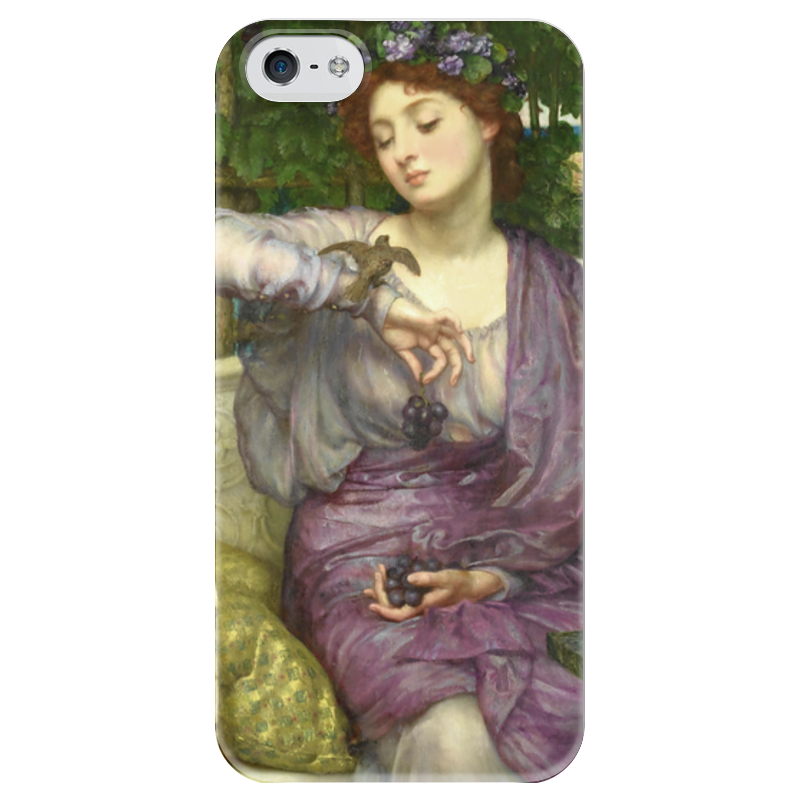 Чехол для iPhone 5 глянцевый, с полной запечаткой Printio Лесбия и её воробушек воробушек