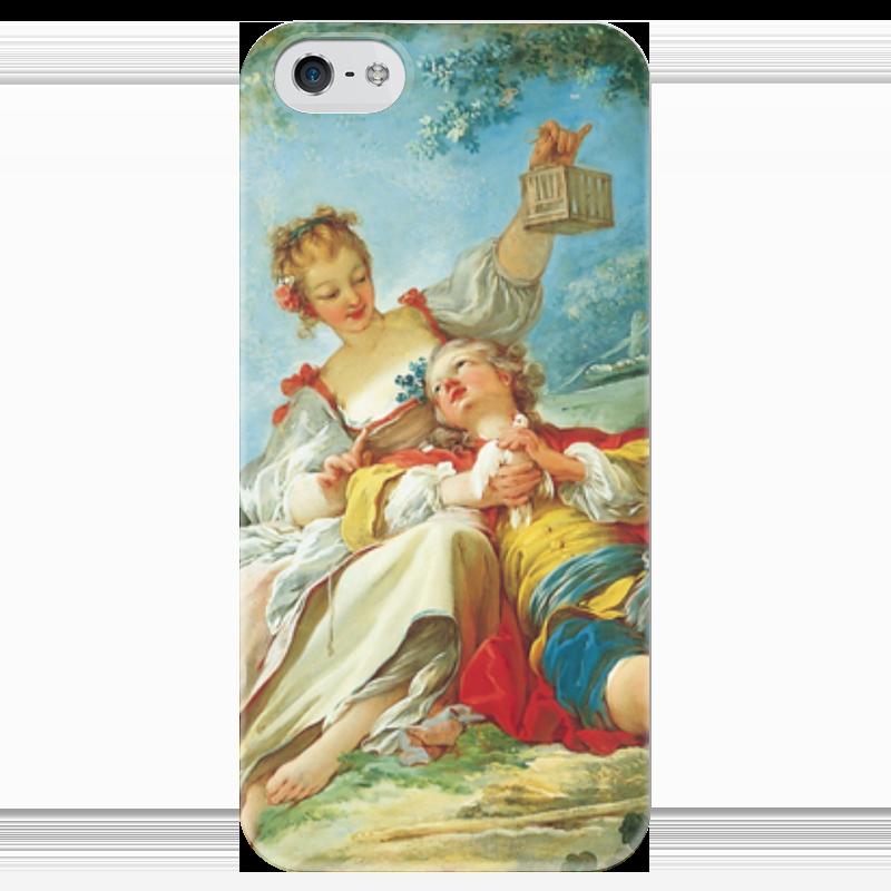 Чехол для iPhone 5 глянцевый, с полной запечаткой Printio Счастливые любовники сыновья и любовники