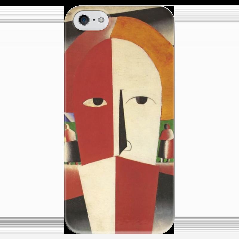 Чехол для iPhone 5 глянцевый, с полной запечаткой Printio Голова крестьянина (казимир малевич)