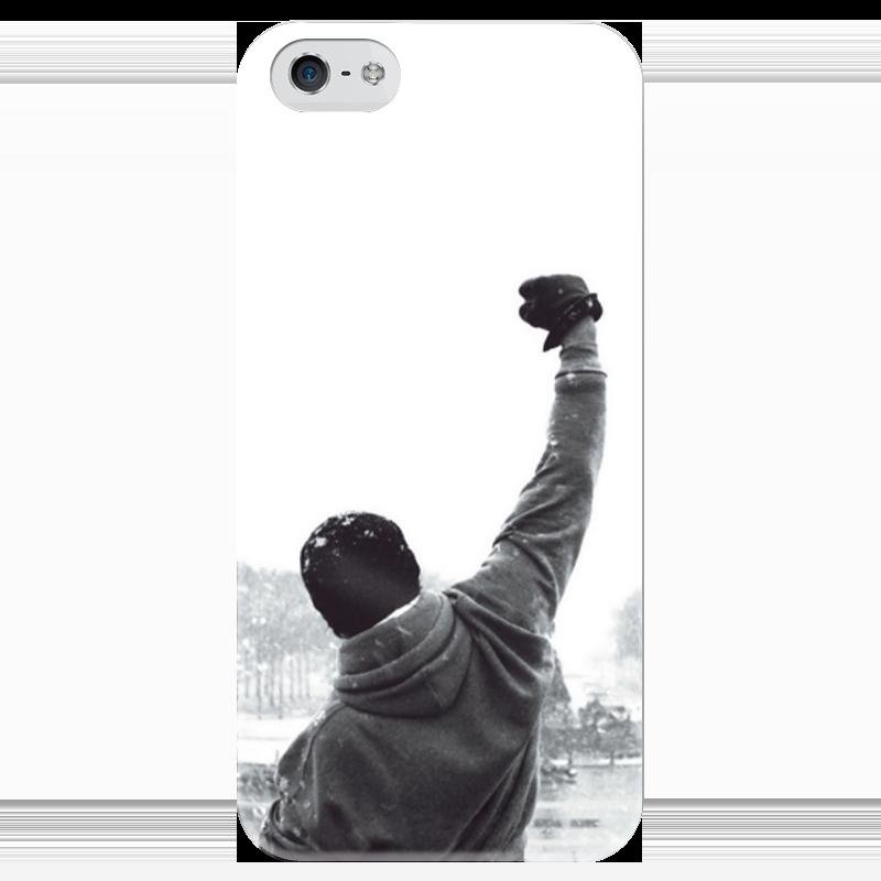 Чехол для iPhone 5 глянцевый, с полной запечаткой Printio Рокки чехол для iphone 5 глянцевый с полной запечаткой printio ember spirit dota 2