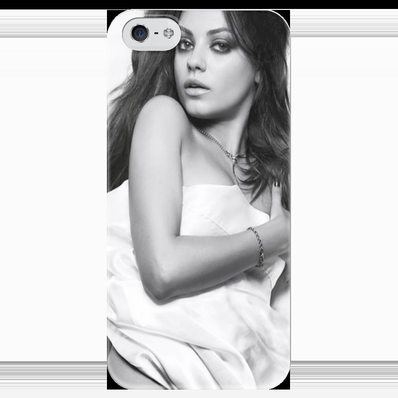 Чехол для iPhone 5 глянцевый, с полной запечаткой Printio Мила кунис чехол для iphone 5 глянцевый с полной запечаткой printio не трогай мой телефон