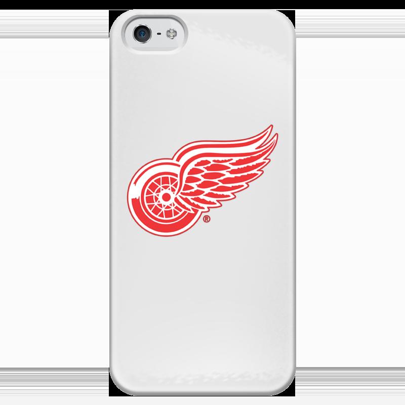 Чехол для iPhone 5 глянцевый, с полной запечаткой Printio Red wings detroit сумка на ремне nhl red wings цвет черный 3 5 л 58017 page 5