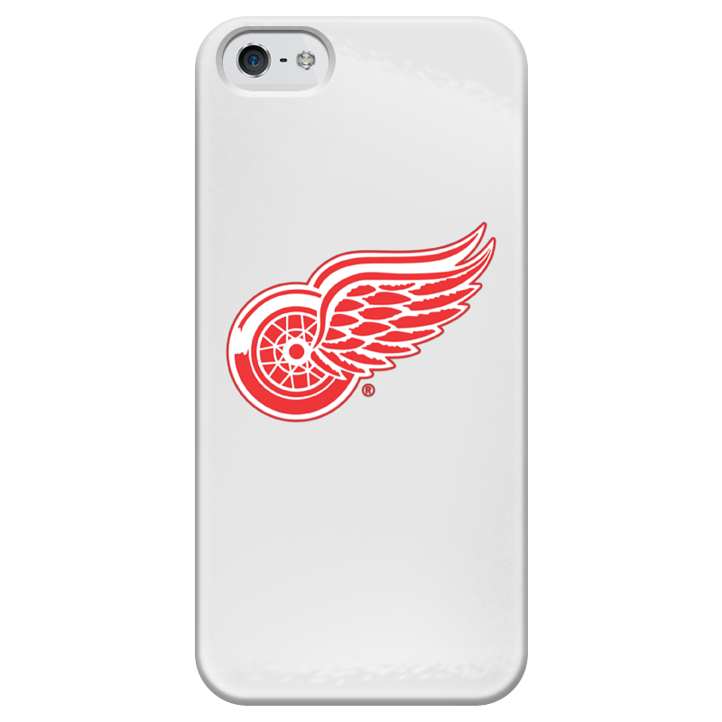 Чехол для iPhone 5 глянцевый, с полной запечаткой Printio Red wings detroit чехол для iphone 5 03 red