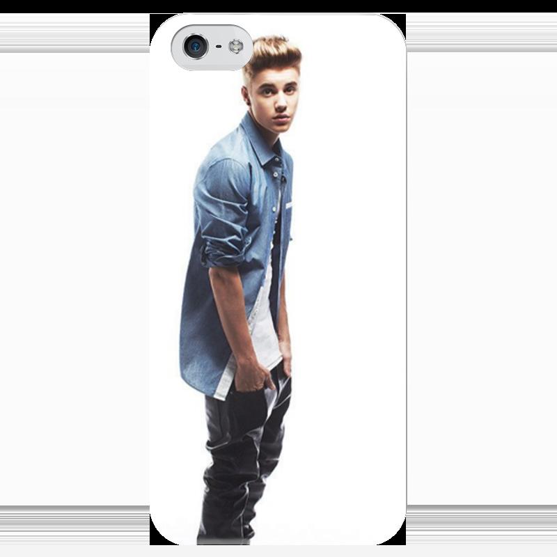 Чехол для iPhone 5 глянцевый, с полной запечаткой Printio Красавчик чехол для iphone 5 глянцевый с полной запечаткой printio bruce black white