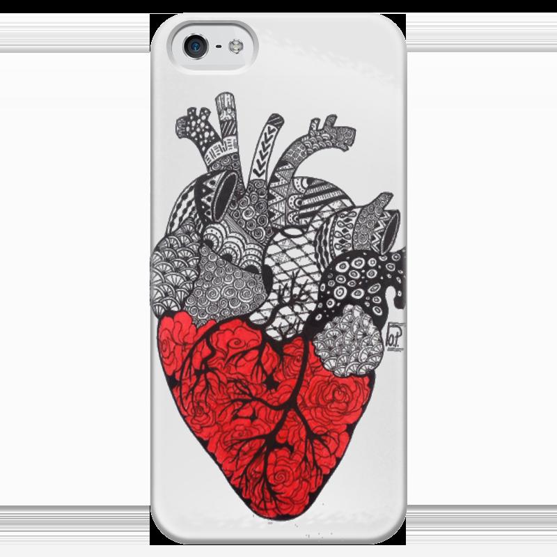 Чехол для iPhone 5 глянцевый, с полной запечаткой Printio Be my valentine сувенирный чехол валентинка хипстер