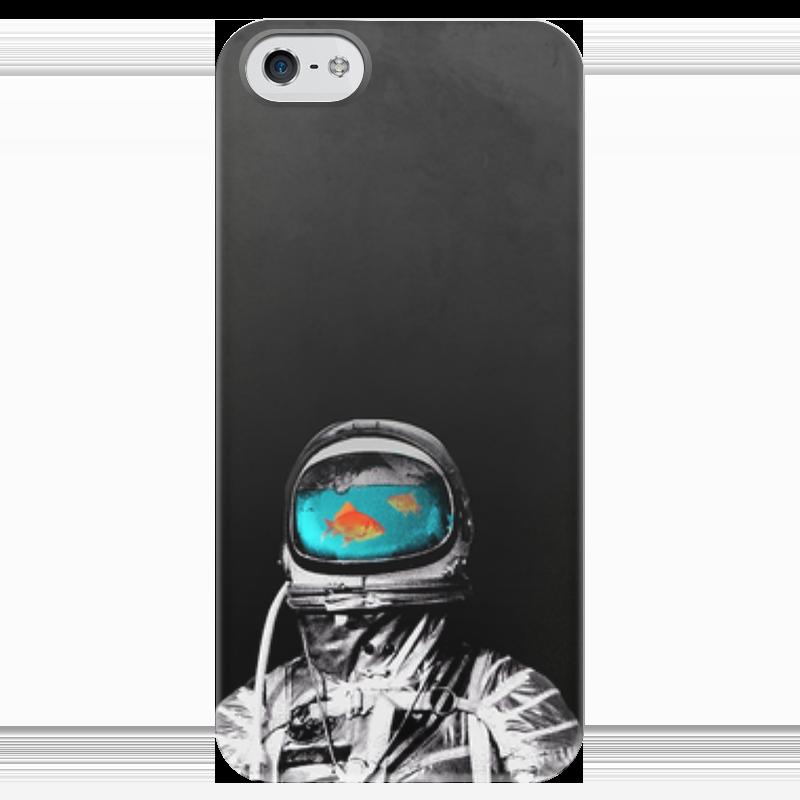 Чехол для iPhone 5 глянцевый, с полной запечаткой Printio Космос как аквариум рокси кидс надувной круг flipper 0 с музыкой буль буль водичка