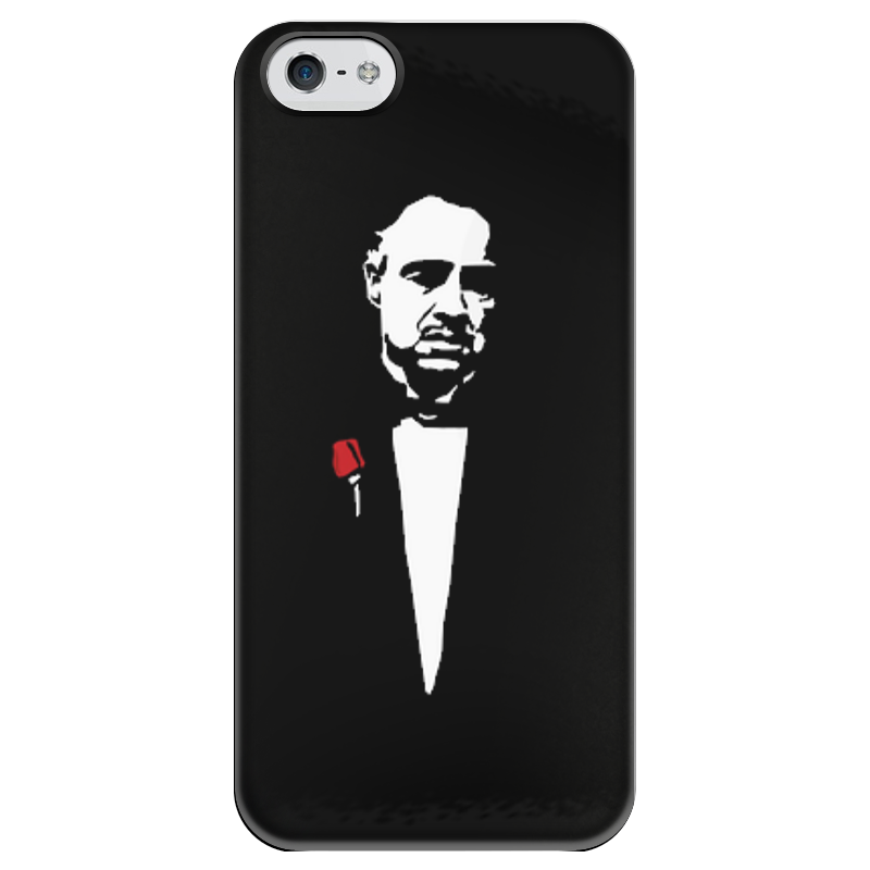 купить Чехол для iPhone 5 глянцевый, с полной запечаткой Printio Godfather по цене 980 рублей
