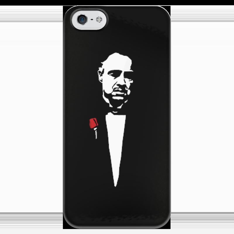 Чехол для iPhone 5 глянцевый, с полной запечаткой Printio Godfather чехол для iphone 5 глянцевый с полной запечаткой printio ember spirit dota 2