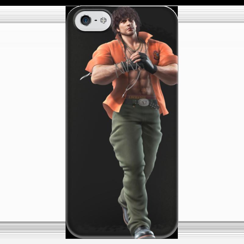 где купить Чехол для iPhone 5 глянцевый, с полной запечаткой Printio Tekken по лучшей цене