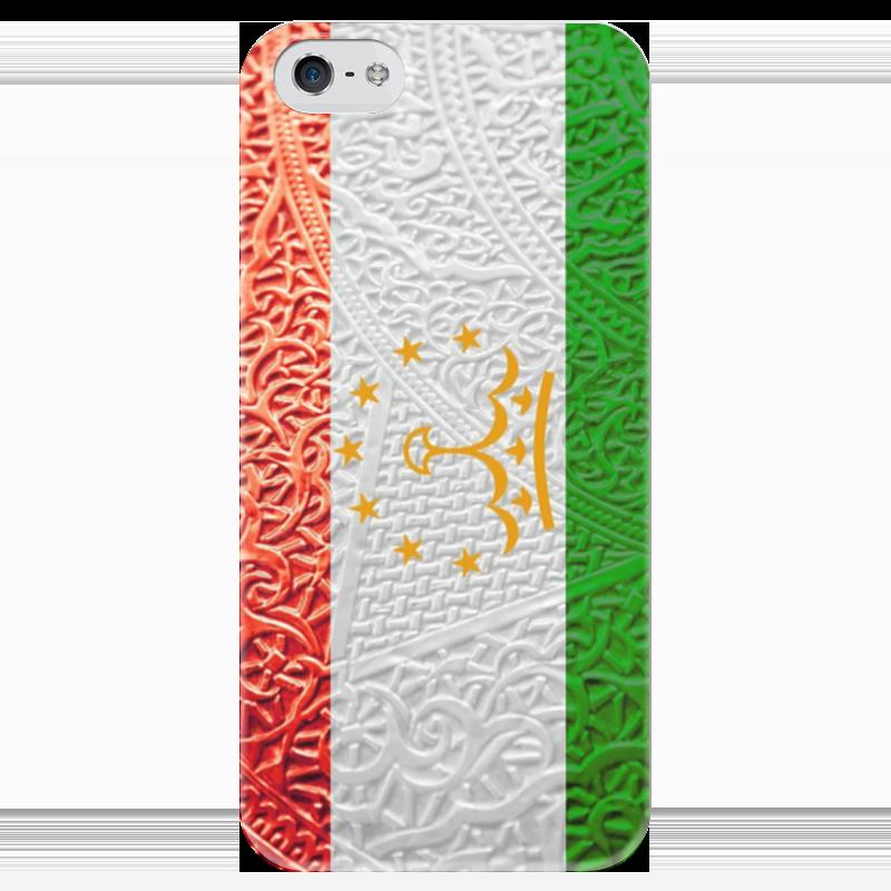 Чехол для iPhone 5 глянцевый, с полной запечаткой Printio Флаг таджикистана чехол для iphone 5 глянцевый с полной запечаткой printio флаг пророка жан леон жером