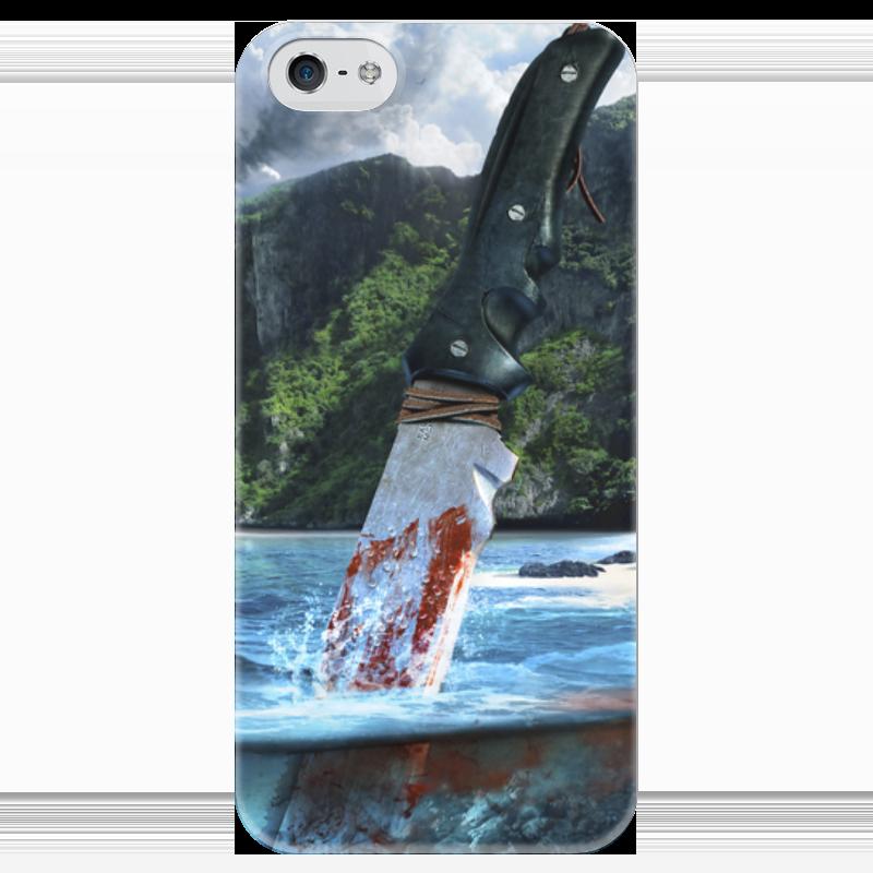 Чехол для iPhone 5 глянцевый, с полной запечаткой Printio Far cry 3