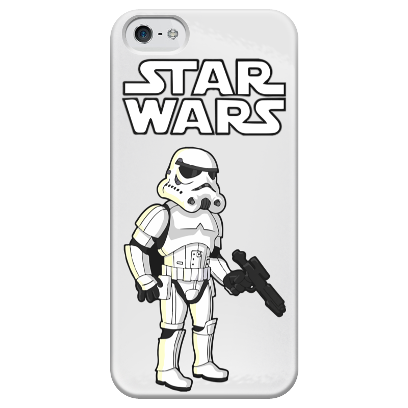 Чехол для iPhone 5 глянцевый, с полной запечаткой Printio Star wars - штурмовик чехол для iphone 4 глянцевый с полной запечаткой printio штурмовик