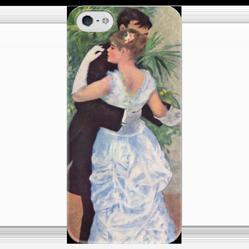 Чехол для iPhone 5 глянцевый, с полной запечаткой Printio Танец в городе (пьер огюст ренуар) чехол для iphone 4 глянцевый с полной запечаткой printio сад на улице корто сад на монмартре ренуар