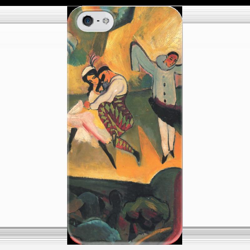 Чехол для iPhone 5 глянцевый, с полной запечаткой Printio Русский балет (август маке) чехол для iphone 4 глянцевый с полной запечаткой printio шляпный магазин август маке