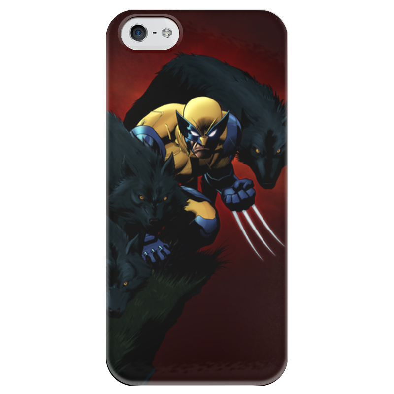 Чехол для iPhone 5 глянцевый, с полной запечаткой Printio Росомаха чехол для iphone 4 глянцевый с полной запечаткой printio бэтмен