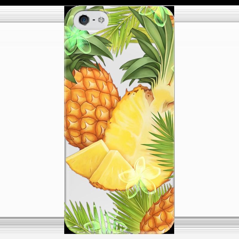 Чехол для iPhone 5 глянцевый, с полной запечаткой Printio Ананасы чехол для iphone 4 глянцевый с полной запечаткой printio эфиопка