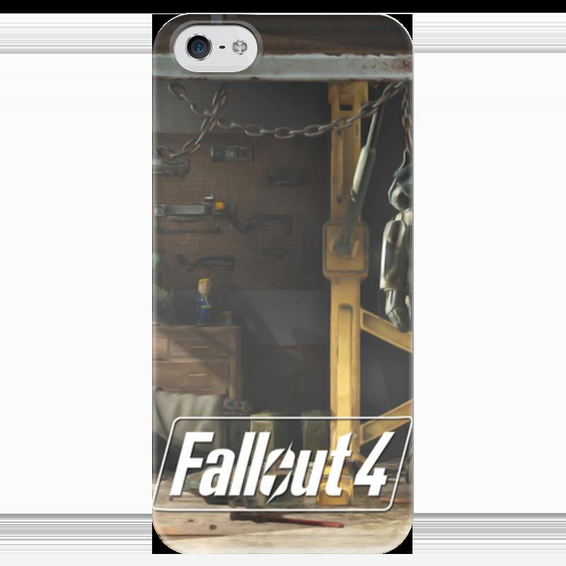 Чехол для iPhone 5 глянцевый, с полной запечаткой Printio Fallout 4 garage чехол для iphone 4 глянцевый с полной запечаткой printio кролик
