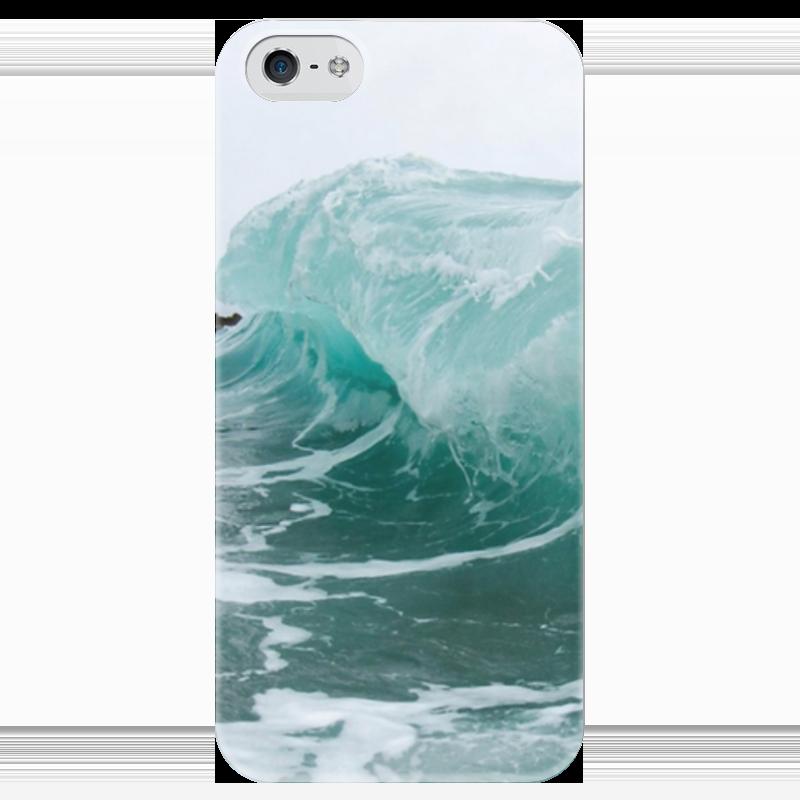 Чехол для iPhone 5 глянцевый, с полной запечаткой Printio Волна чехол для iphone 5 глянцевый с полной запечаткой printio эфиопка