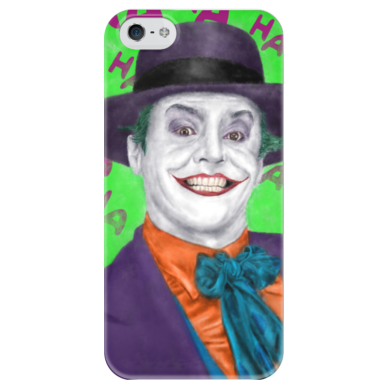 Чехол для iPhone 5 глянцевый, с полной запечаткой Printio Джокер чехол для iphone 5 глянцевый с полной запечаткой printio ember spirit dota 2