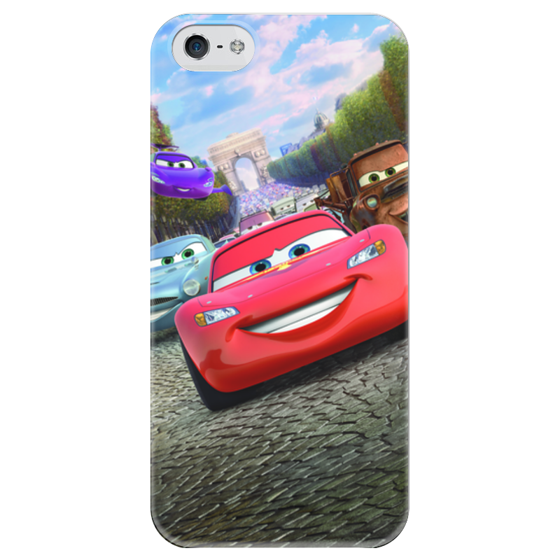 Чехол для iPhone 5 глянцевый, с полной запечаткой Printio Тачки чехол для iphone 5 глянцевый с полной запечаткой printio beardman case