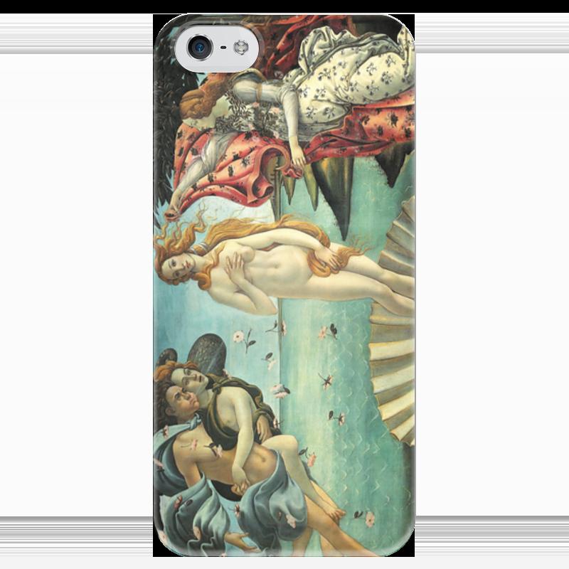 Чехол для iPhone 5 глянцевый, с полной запечаткой Printio Рождение венеры (сандро боттичелли) картина весна боттичелли