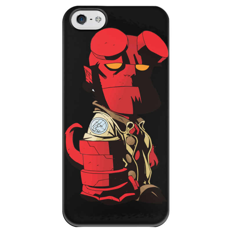 Чехол для iPhone 5 глянцевый, с полной запечаткой Printio Hellboy / хеллбой hellboy giant right hand anung un rama right hand of doom arms hellboy animated cosplay weapon resin collectible model toy w257