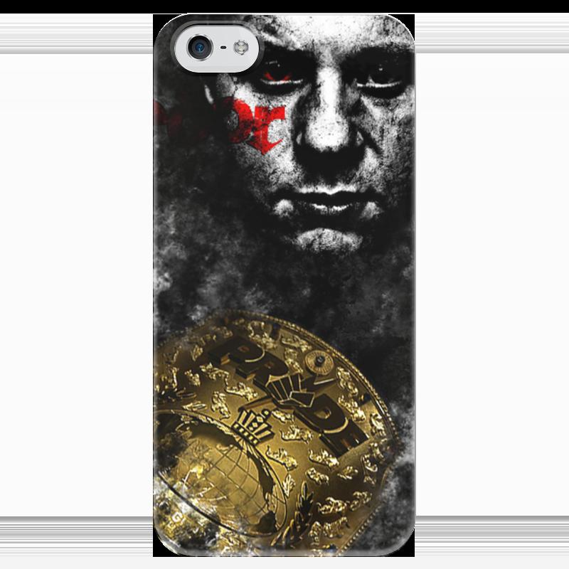 Чехол для iPhone 5 глянцевый, с полной запечаткой Printio федор емельяненко pride цена 2017