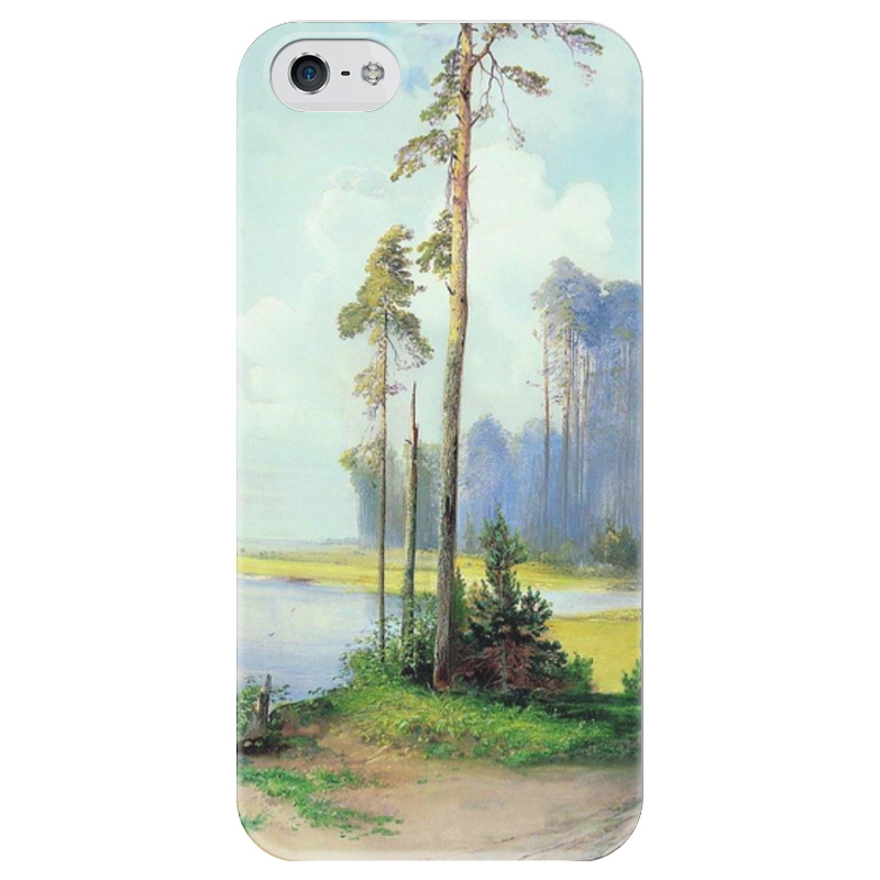 Чехол для iPhone 5 глянцевый, с полной запечаткой Printio Летний пейзаж. сосны. чехол для iphone 6 глянцевый printio летний сад